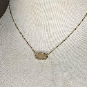 Kendra Scott Gold Druzy White Necklace Jewelry